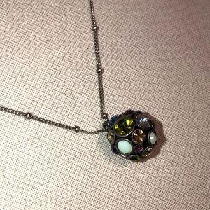 Fossil Silver Multi Disco Ball Necklace
